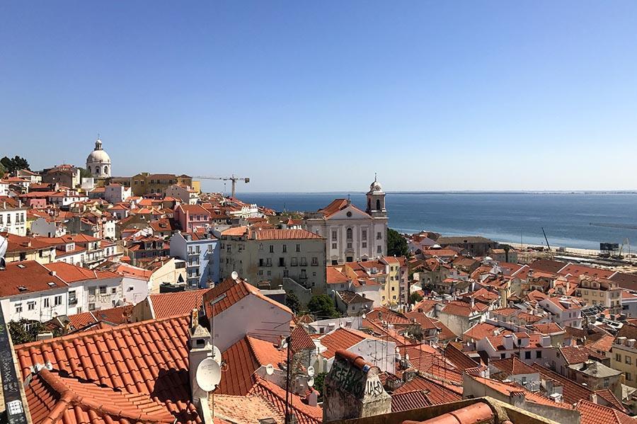 Citytrip Lissabon: Miradouro Largo das Portas do Sol