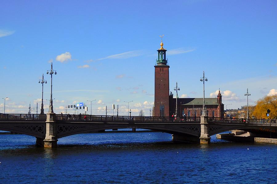 Op de fiets door Stockholm - stadhuset