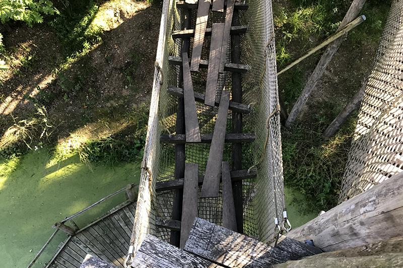 Het Blotevoetenpad Lieteberg -klimmen