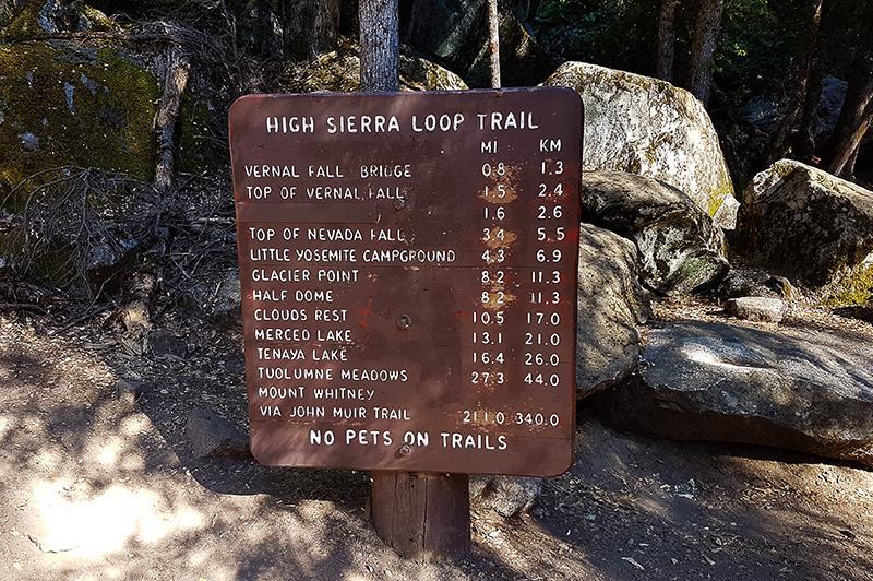 Yosemite National Park High Sierra Loop Trail