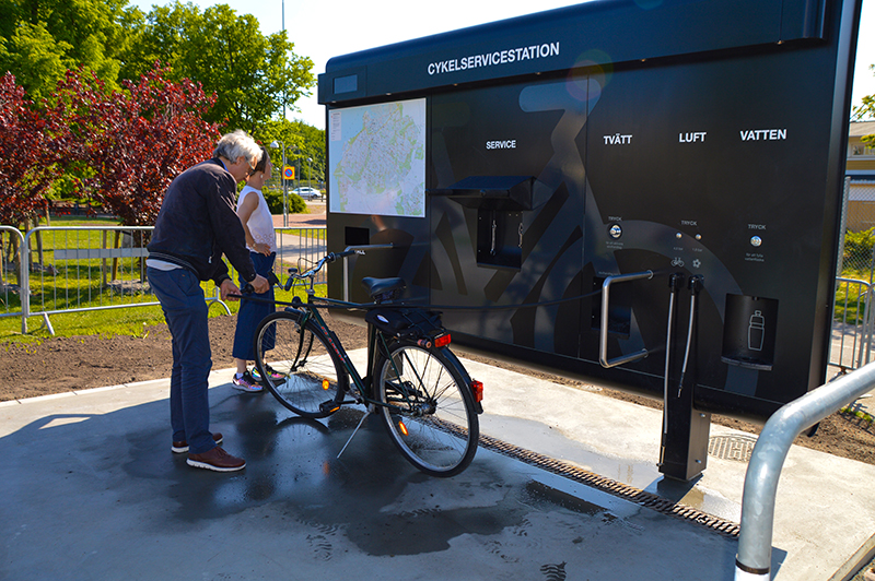 Citytrip Malmö cykelservicestation