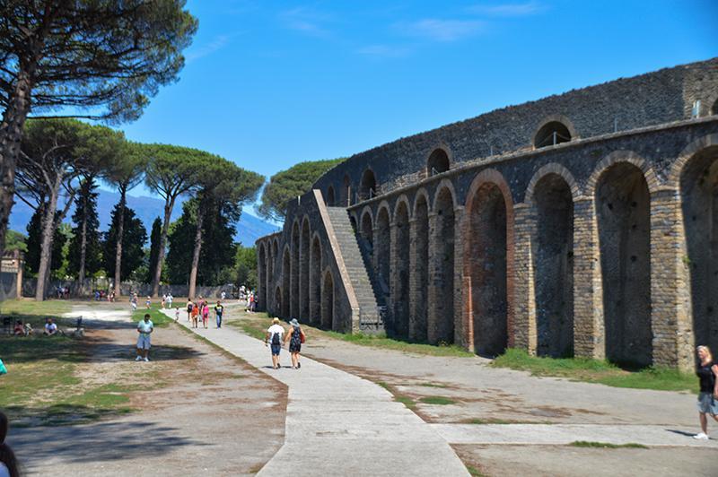 Bezoek aan Pompeï - Amfitheater