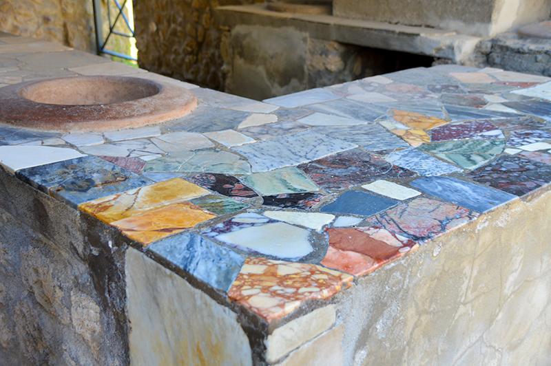 Bezoek aan Pompeï - marmer